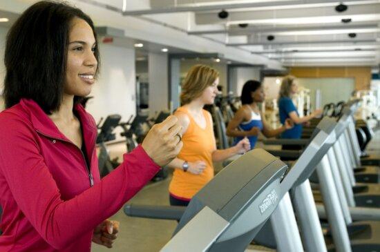 four, women, gym