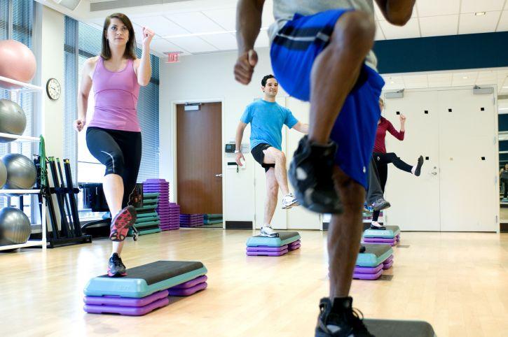 divertido, ejercicio, gimnasio