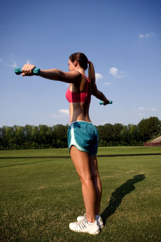 girl, arms, fully, extended, angles