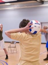 staršie osoby, drevené podlahy, vnútorné, basketbal, kurty