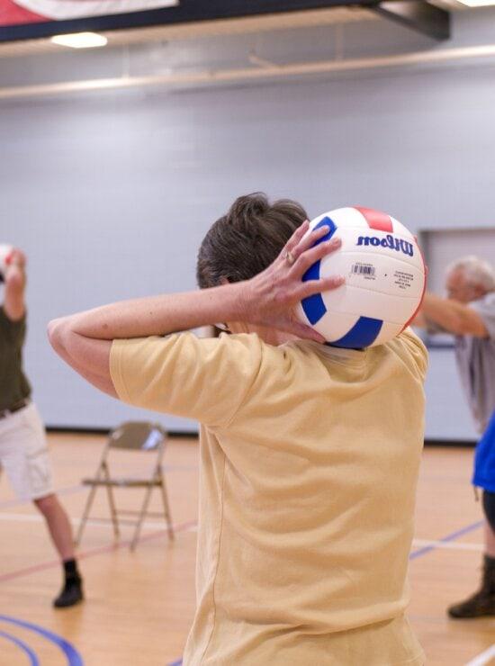 older individuals, wooden, floor, indoor, basketball, court