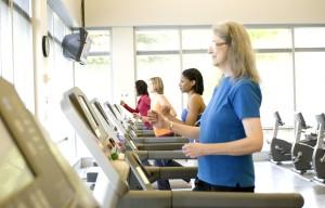 femme, aérobie, exercice