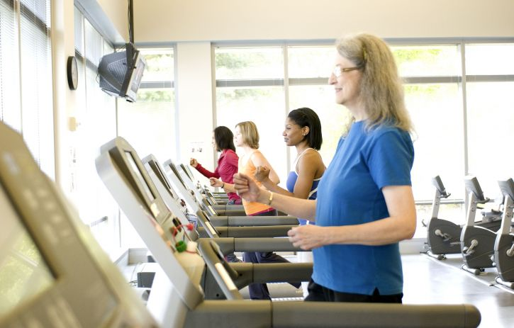 woman, aerobic, exercise