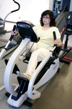 Femeie, sală de gimnastică, corp, exercitării, aerobe