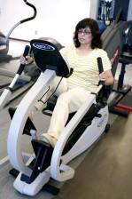 femme, gymnase, corps, exercice, aérobie