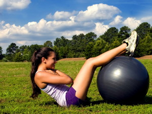 yoga, poses, training, aerobic, balance, ball