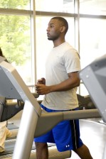młody mężczyzna, jogging