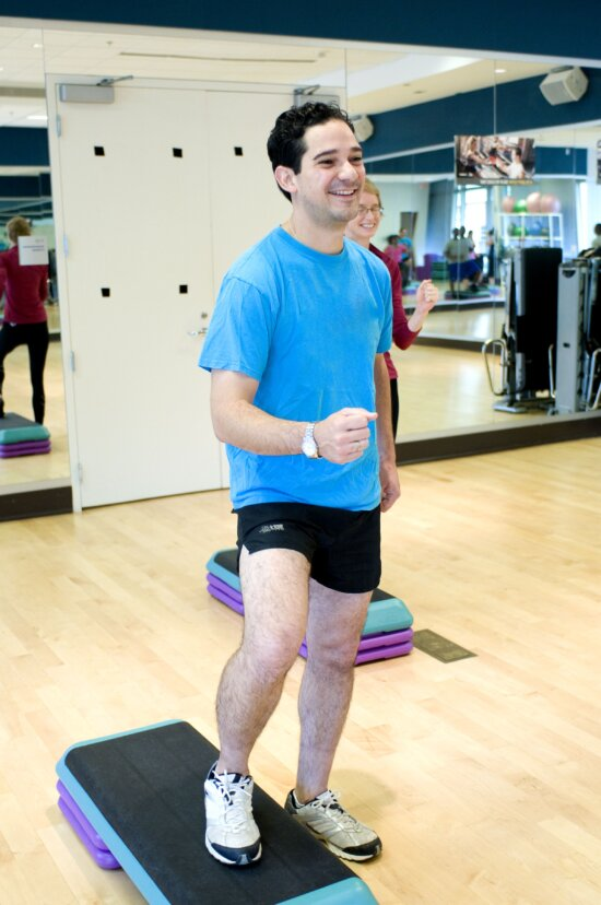 young man, pilates, aerobic