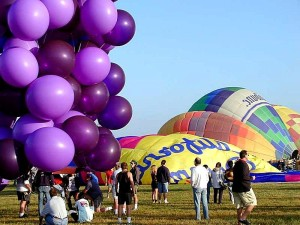 ballons, chaud, air, cluster, john, ninomiya