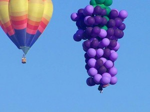 balloons, hot, air, cluster, sky