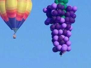 palloncini, caldo, aria, cluster, cielo