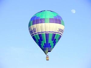 palloncini, cielo, la luna