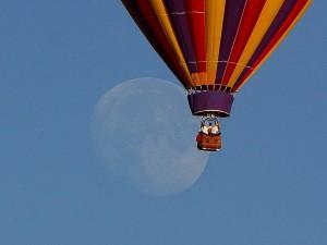 chaud, ballons, Lune, pleine