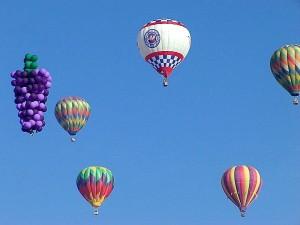 several, balloons, sky