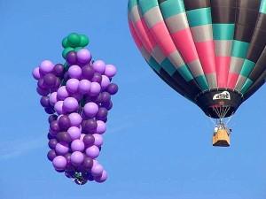 два, воздушные шары, горячего воздуха, кластер, небо