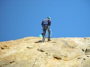 abseiler, mountain, climber