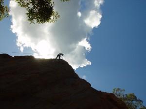 mann, klatring, fjell