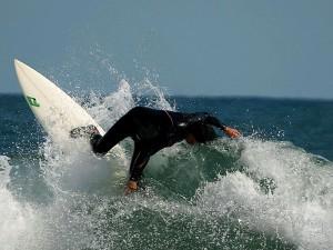 surfer, sauter, eau