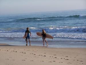 surfers, mare, spiaggia