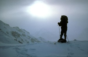 Kreuz, Land, Skifahren, alaska