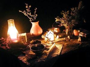 변경, 촛불, 꽃병