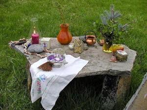 mengubah, vas, batu, lilin