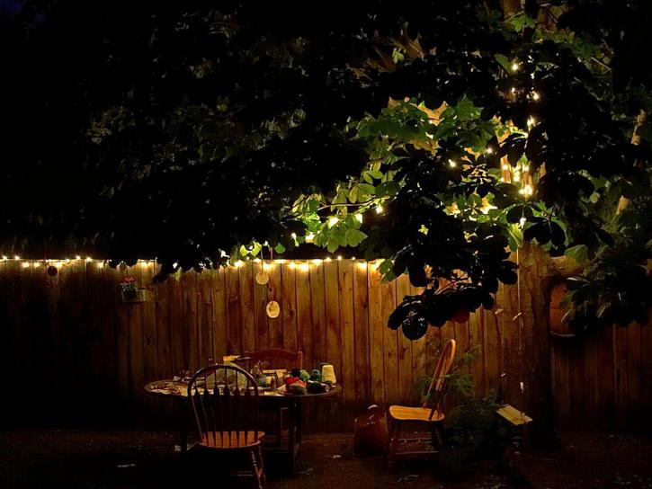 Free Picture Backyard Table Night