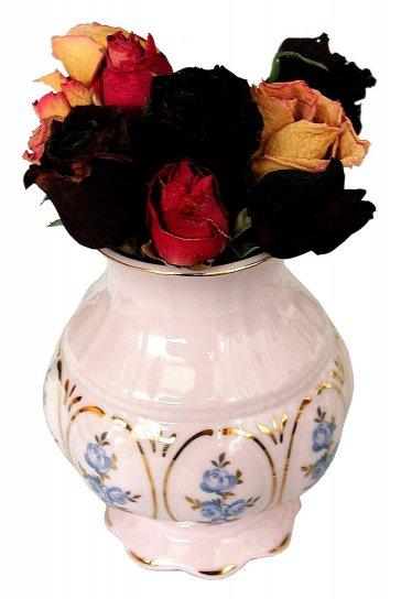 blomster, vase