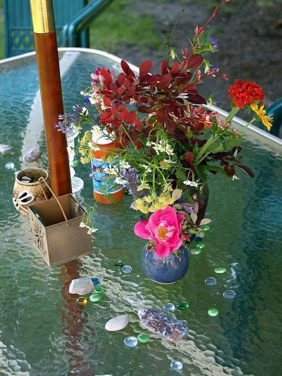 fiori, tavolo