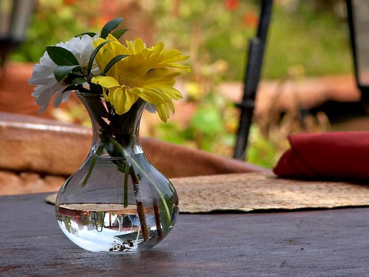 blomster, tabeller, vase