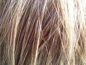 blond, cheveux, détails
