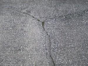 concreto, agrietado