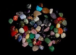 crystals, gemstones