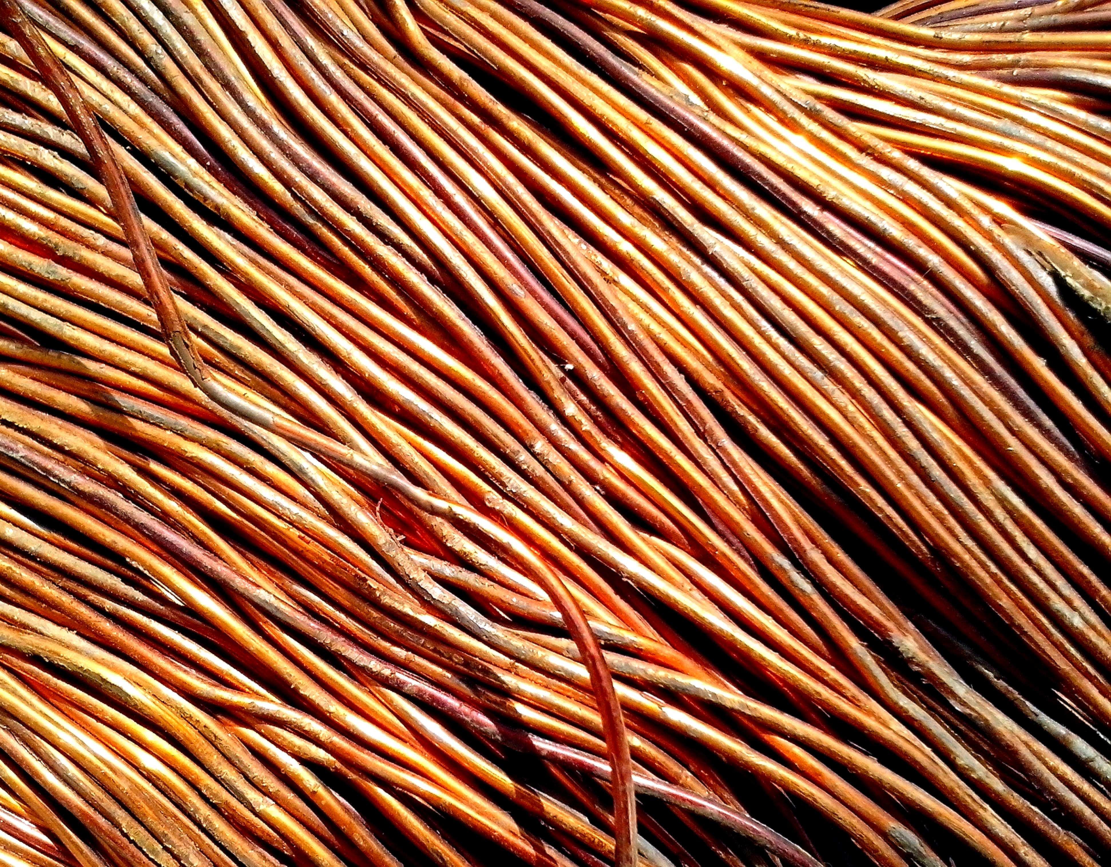 Free photograph; copper, wire