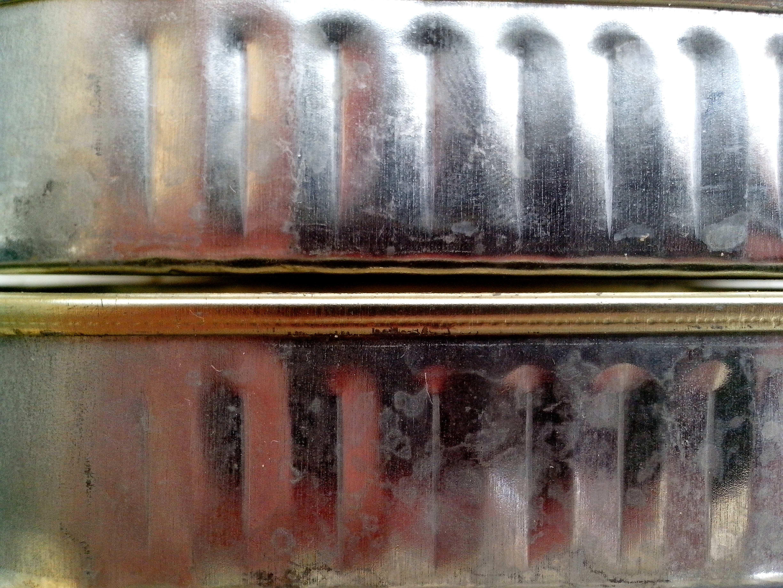Free photograph; metal, sardines