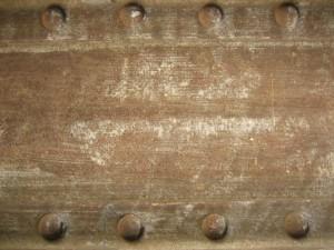vieux, sale, poussiéreux, rouillé, gratté, métal, fer