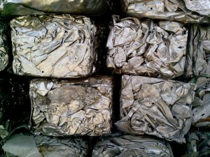 pressed, metal, bales, waste, material