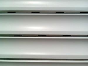 plastic, white, blinds, windows