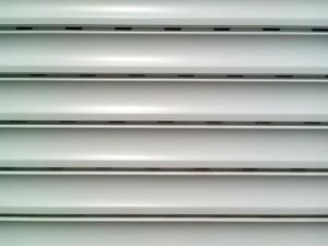 white, plastic, blinds