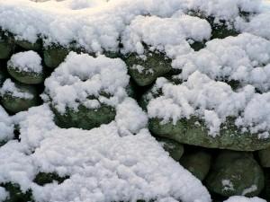 powder, snow, stone, wall