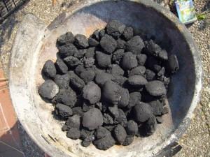 charcoal, briquets