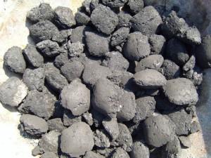 charbon de bois, Briquettes, texture
