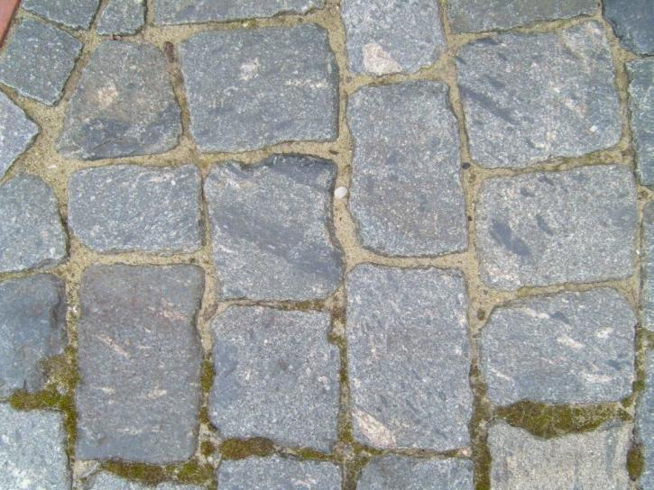 adoquines, gris, suelo, textura