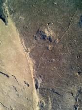 fissures, pierre, texture