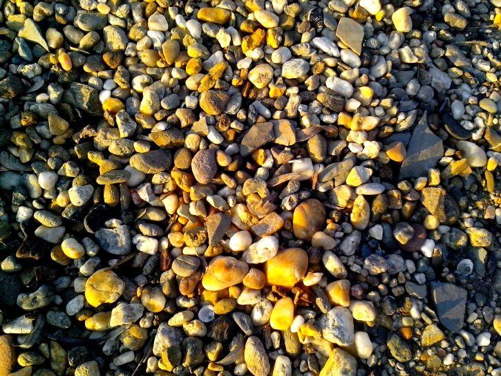 pebbles, beach, sunny, day