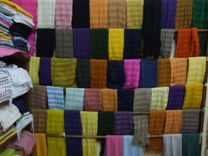 colourful, scarves