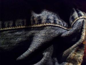 denim, jeans, froissées