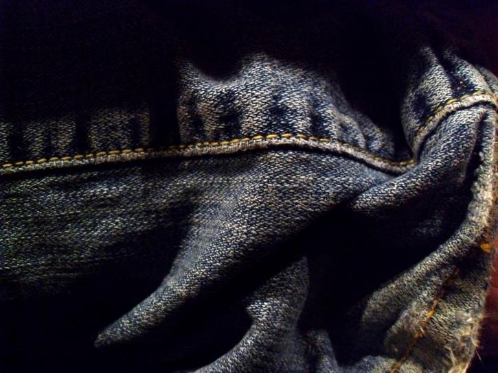 denim, jeans, krøllete
