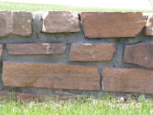 grande, pietre, parete