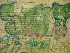 brick, graffiti